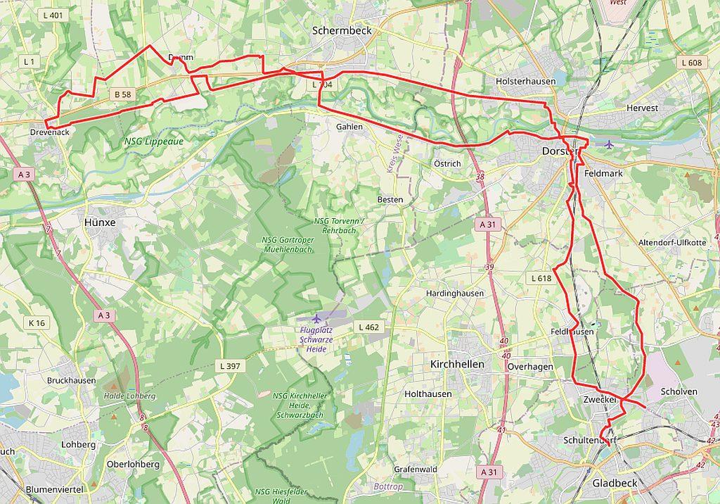 Radtouren Drevenack