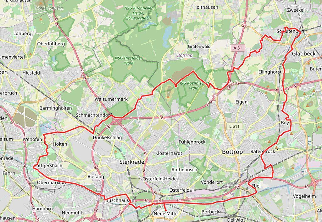 Radtouren Hamborn