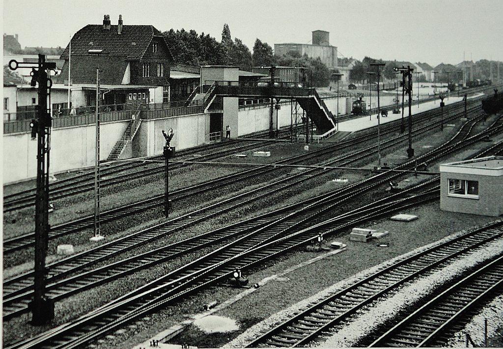 Unbekanntes Gladbeck Abgesenkte Gleisanlagen