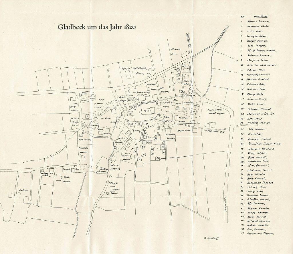 Gladbeck-einst um 1820