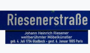 Unser Verein - Legendenschild Riesener Str.
