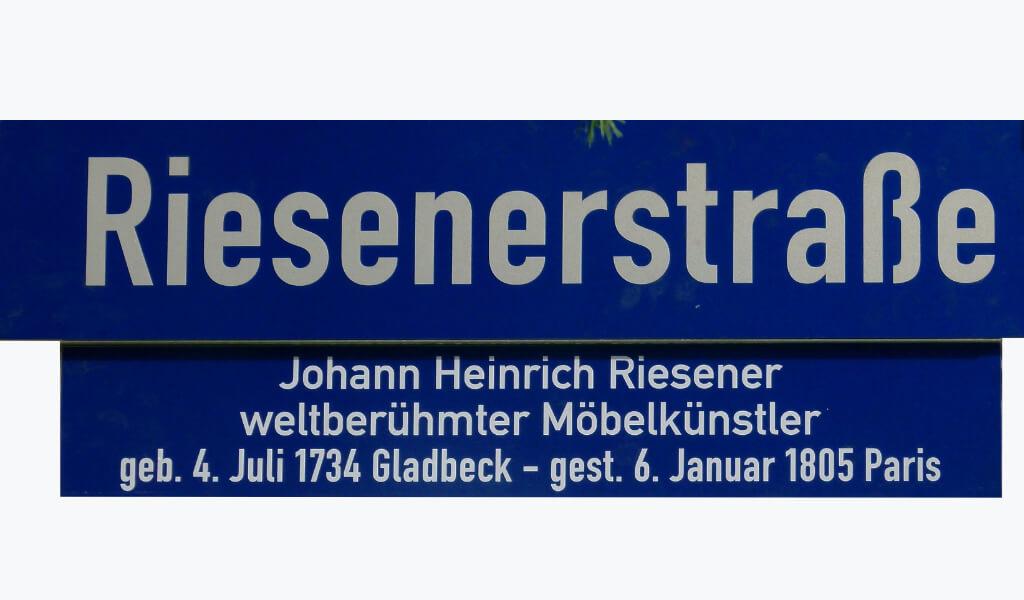 Unser Verein - Legendenschild Riesenerstr.