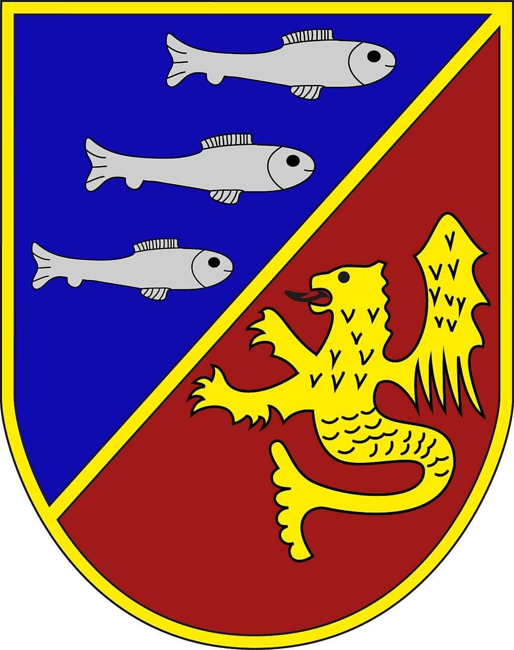 """Partnerstädte Wappen """"Lachs"""""""