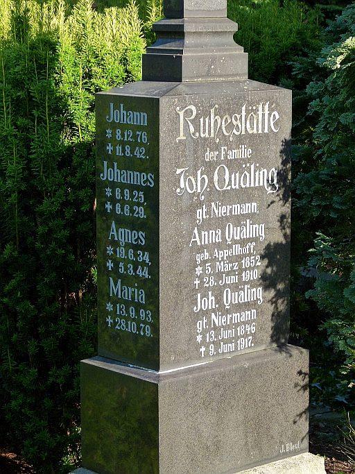 Gladbecker Friedhöfe Familiengrabstätte